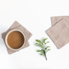 TABLE LINEN - Coasters Set of 4 - GUM BARK