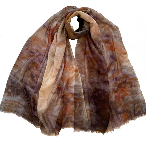 LUXURY SHAWL - Handwoven merino & silk - TENDER