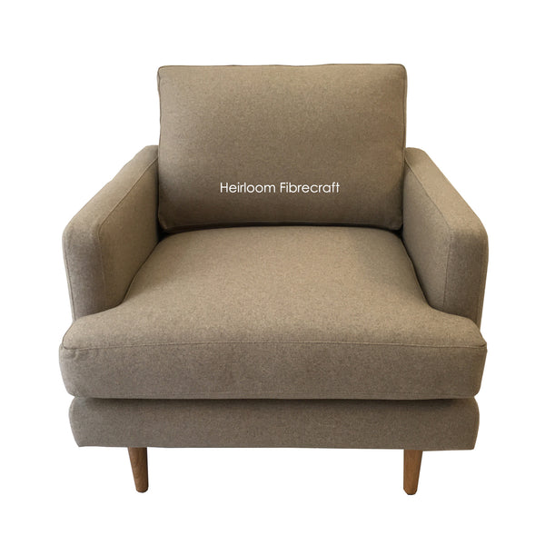 ARMCHAIR - Wool Fabric - LINEN