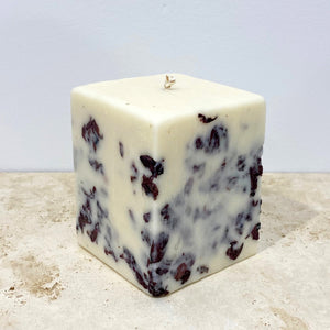 SOY FLORA CANDLE - Square pillar - POPPY