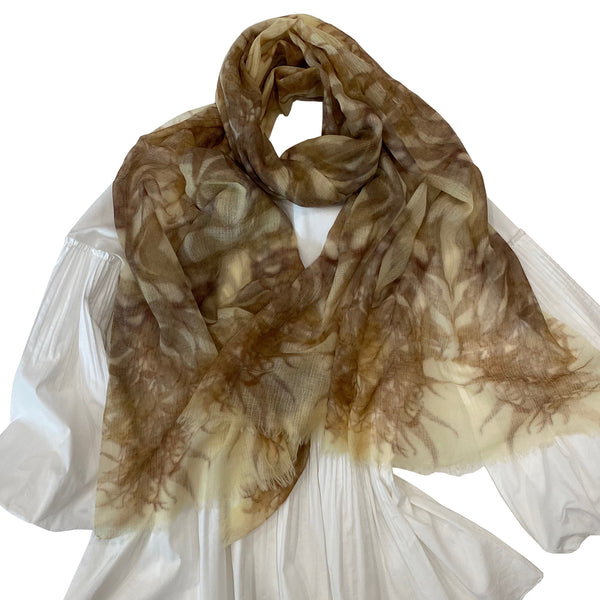 LUXURY SHAWL - Handwoven merino & silk - LANCEOLATE