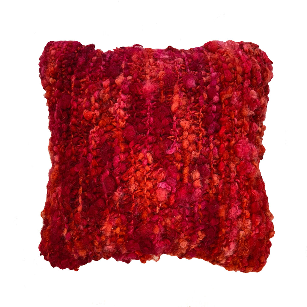 HANDMADE CUSHION - Tactile Wool - HIBISCUS