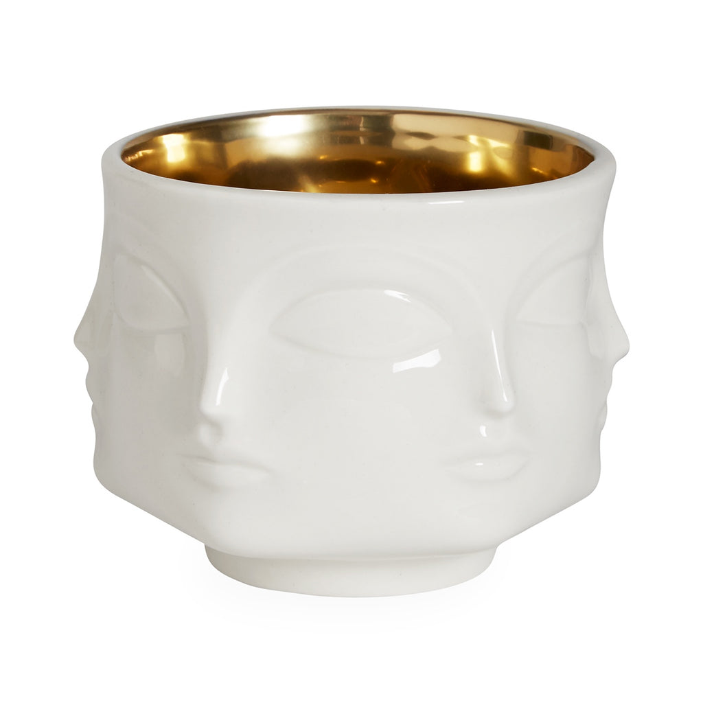 MUSE BOWL - White/Gold Interior