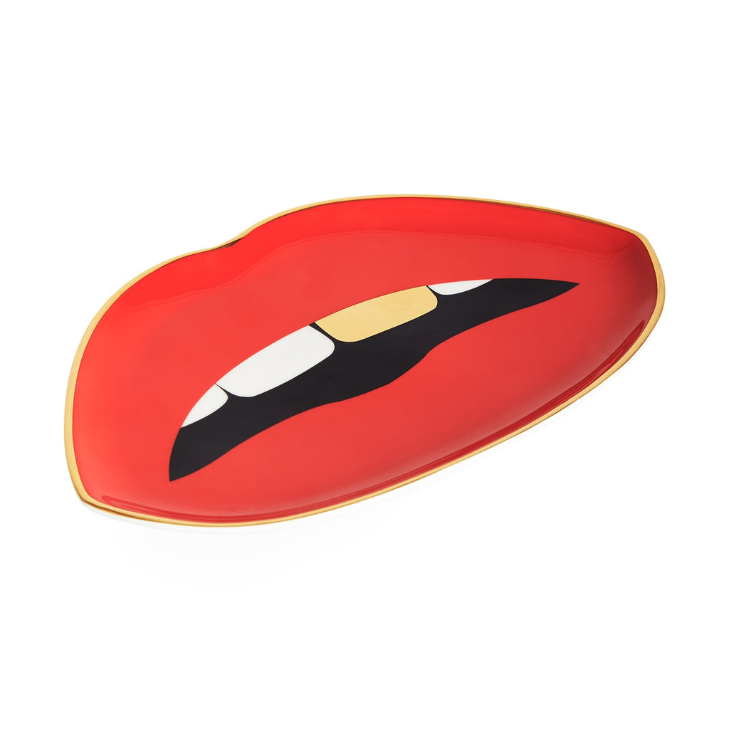 LIPS TRINKET TRAY - Red