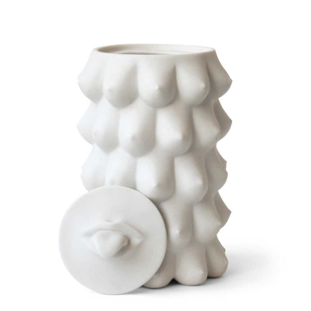 GEORGIA COOKIE JAR - White