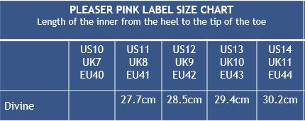 Pleaser Shoes Pink Label Divine Faux Leather Knee Boots