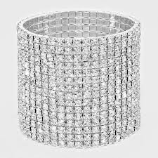 Rhinestone Stretch Bracelet 15 Rows - STREET SMART LEGACY CLOTHING