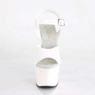 Adore 708N Ankle Strap 7 Inch Platforms White Jelly - STREET SMART LEGACY CLOTHING