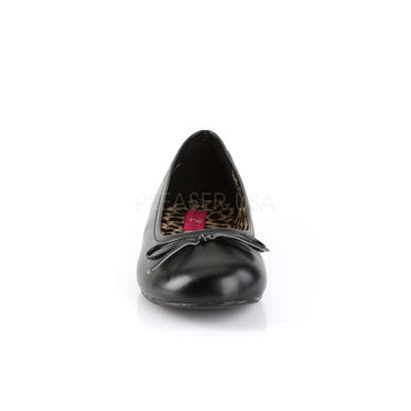 Pleaser Pink Label Anna 01 Ballet Flats Matte Black - STREET SMART LEGACY CLOTHING