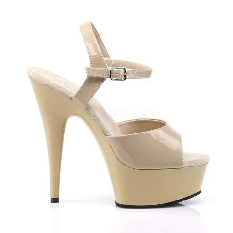 Delight 609 Cream/Nude Patent Platform - STREET SMART LEGACY CLOTHING
