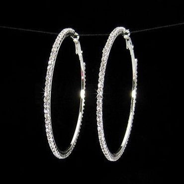 Crystal Hoop Earrings - STREET SMART LEGACY CLOTHING