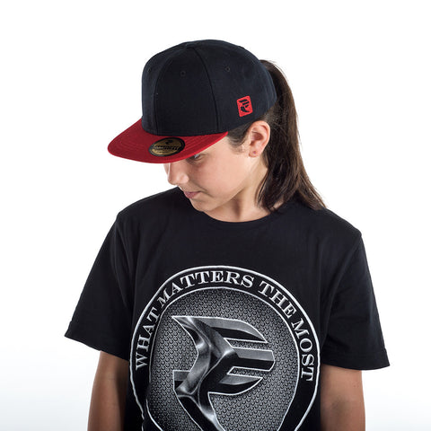 Black/Red Snapback Cap - STREET SMART LEGACY CLOTHING