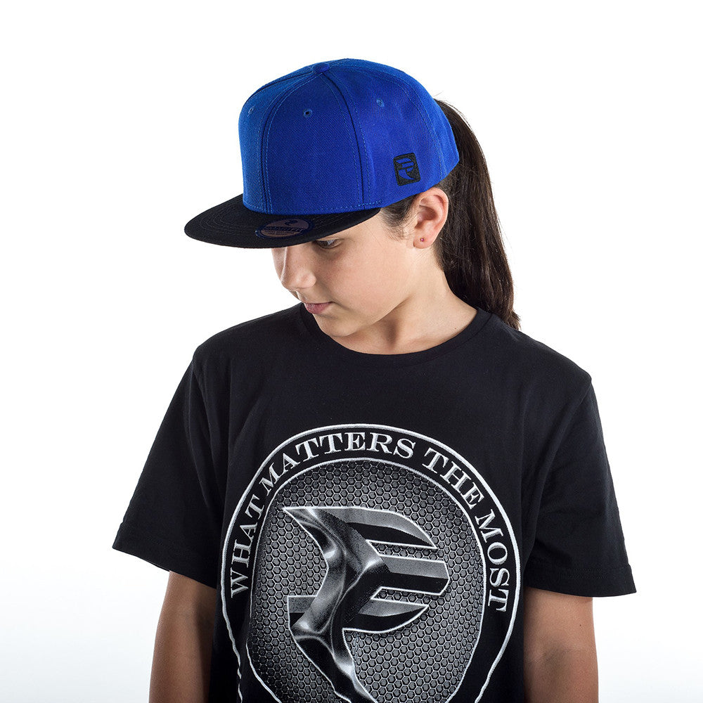 Blue/Black Snapback Cap - STREET SMART LEGACY CLOTHING