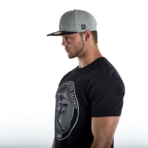 Grey Marle/Black Snapback Cap - STREET SMART LEGACY CLOTHING