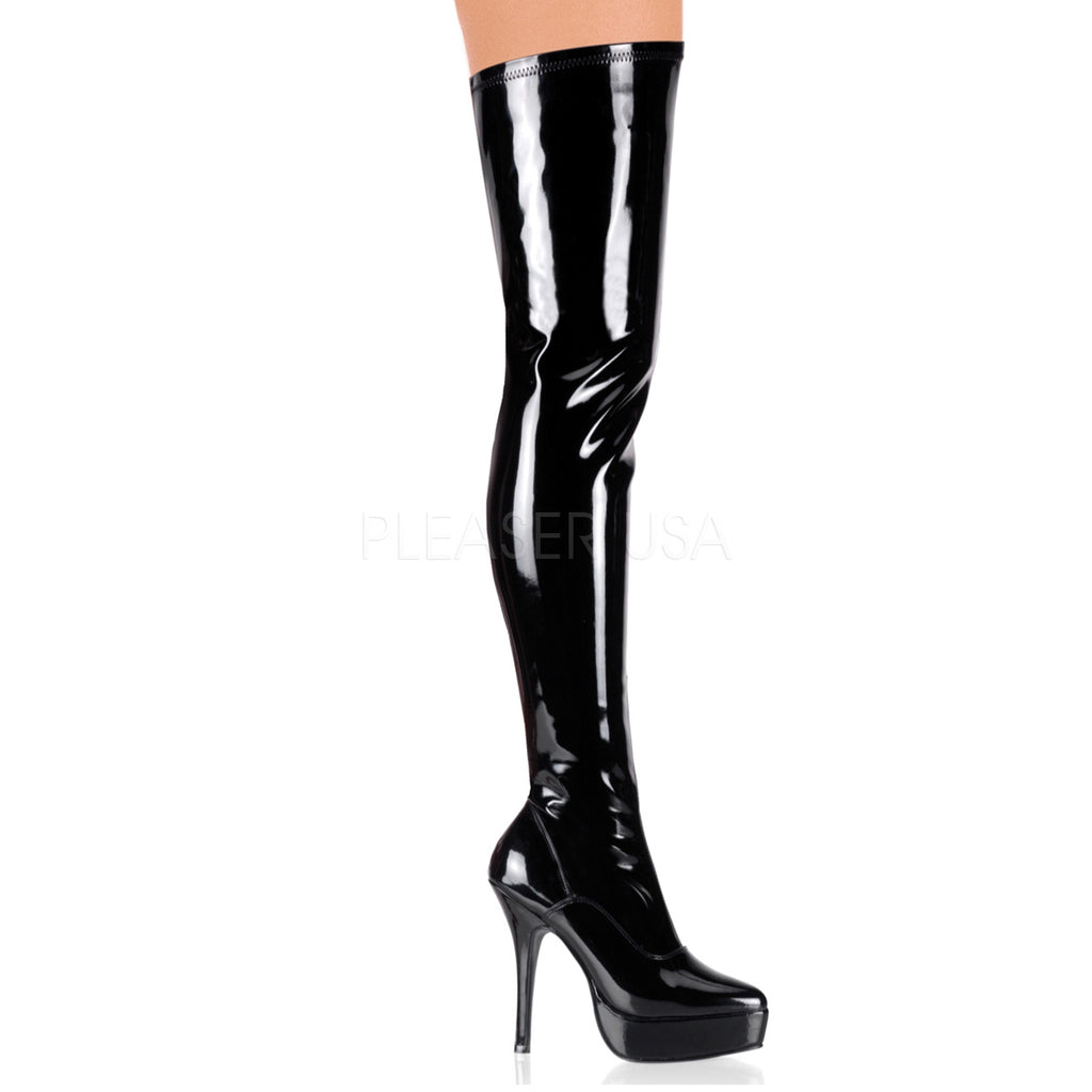 Indulge Thigh High Boot Black - STREET SMART LEGACY CLOTHING
