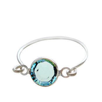 Stackable Ring Blue Silver