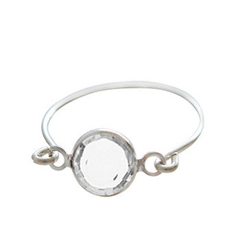Stackable Ring Clear Silver