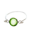 Stackable Ring Green Silver