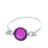 Stackable Ring Purple Silver