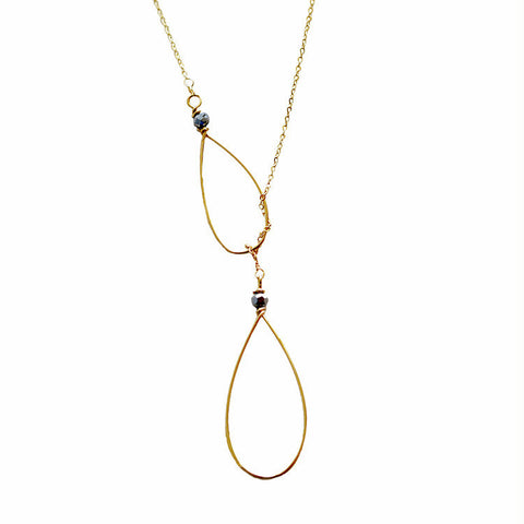 Double Teardrop Necklace