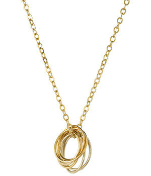 Gold Filled Multiple Circles Necklace
