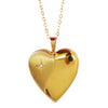Heart Locket Necklace with a Diamond