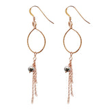 Teardrop Earrings with Tassel