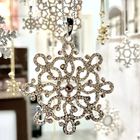 Infinity Snowflake Necklace