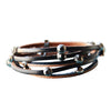 Leather Crystal Bracelet Black