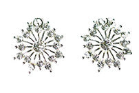 Snowflake Earrings Round Studs