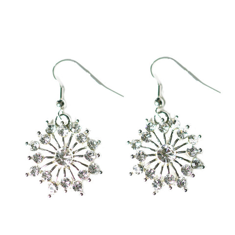 Snowflake Earrings Round