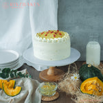 Load image into Gallery viewer, RinzBakes | Pika Pika | Fluffy Japanese pumpkin chiffon | osmanthus jelly | osmanthus infused chantilly cream | goji berries | osmanthus flowers | Birthday Celebration | Gathering | Delivery within Klang Valley (Kuala Lumpur & Selangor) |