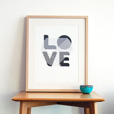 LOVE and HOME Art Prints (unframed)
