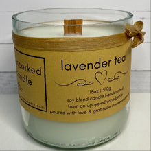 Load image into Gallery viewer, Lavender Tea Upcycled Wine Bottle Bottom Candle