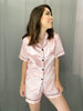 Short Satin Pyjama Set [Baby Pink]