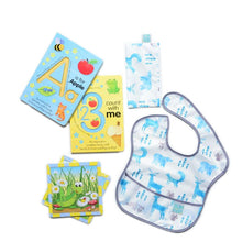 Load image into Gallery viewer, Milestone Baby Gift Collection Books Bib