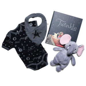 Milestone Baby Gift Collection Onezie Twinkle Book