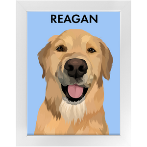WagCraft™ Custom Framed Pet Poster