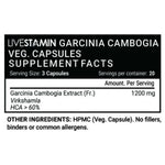 Livestamin Garcinia Cambogia Extract Supplement, 1200 mg per serving (60 Veg. Capsules)