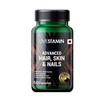 Livestamin Advanced Hair, Skin and Nails Supplements with Biotin Amino acids & Herbal Extracts - 60 Capsules