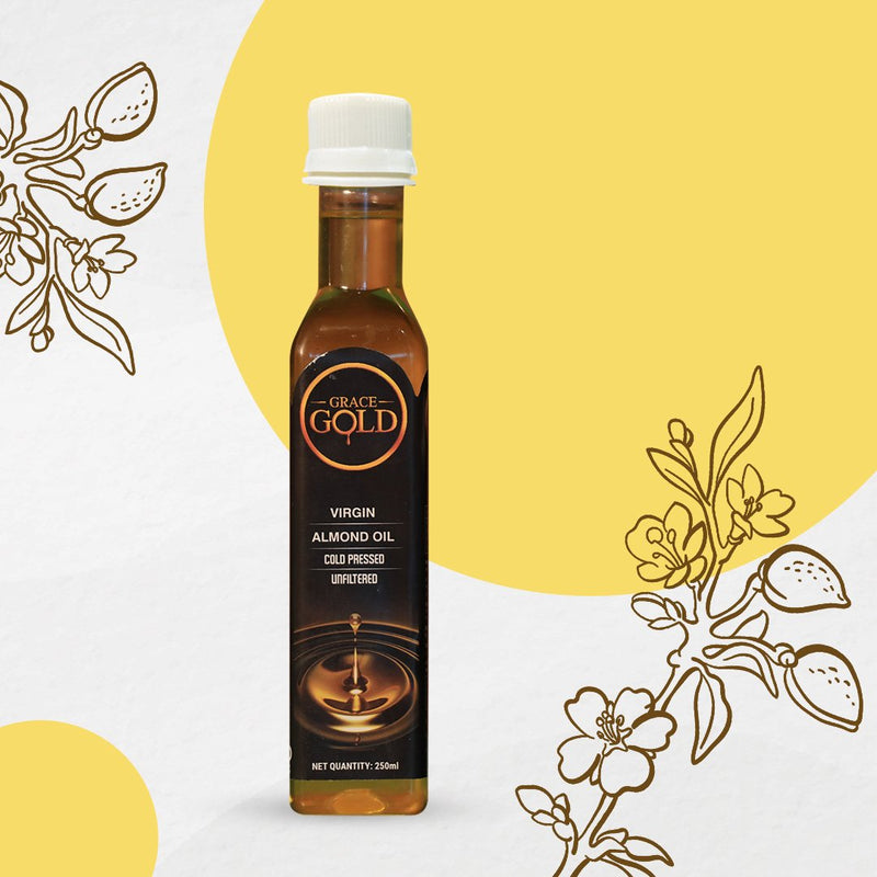 Grace Gold's Virgin Cold Pressed Almond Oil 250ml