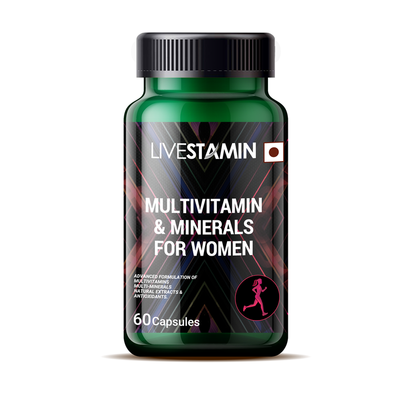 Livestamin Multivitamin And Mineral Supplement for Women - 60 Capsules