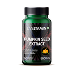 Livestamin Pumpkin Seed Extract Supplement 500 mg - 60 Vegetarian Capsules