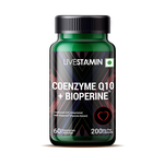 Livestamin Co-Enzyme Q10 200mg Bioperine Anti-oxidant Supplement - 60 Vegeterian Capsules