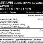 Livestamin Turmeric Extract, Curcumin C3 Complex, (95% Curcuminoids) with Piperine (Bioperine) Supplement 500 mg - 60 Vegetarian Capsules
