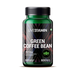 Livestamin Green Coffee Bean Extract 800 mg Serving (50% GCA) Coffea Arabica Weight Management Supplement - 60 Vegetarian Capsules