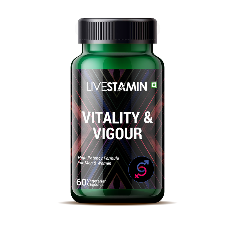 Livestamin Vitality and Vigour Supplement, Libido Booster (60 Vegetarian Capsules)