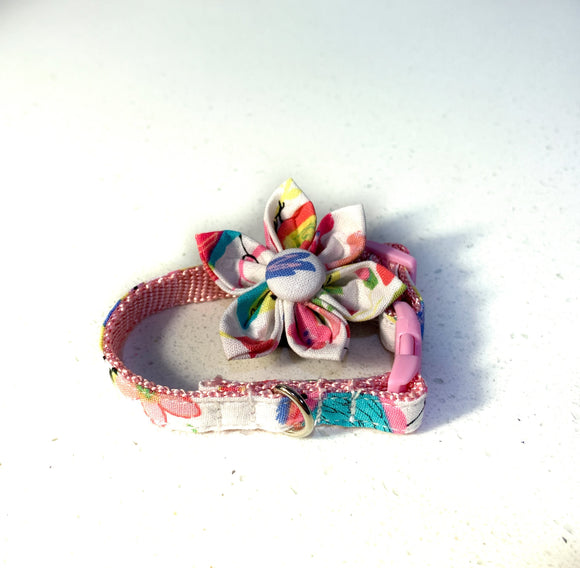 Rainbow Floral Flower Collar