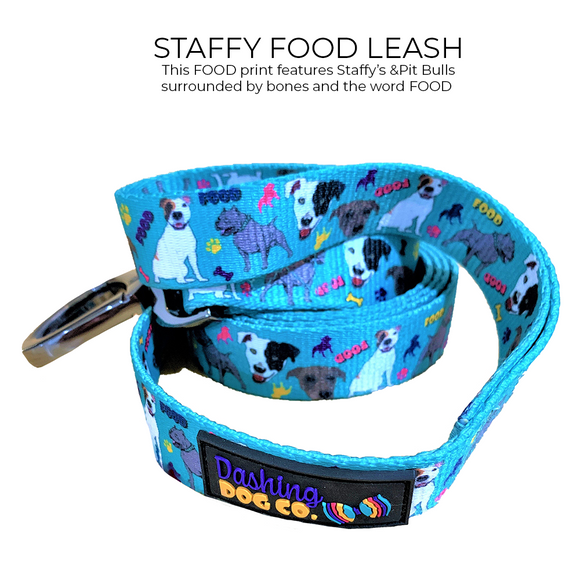 Leash - Staffy/PitBull 'Food' Print