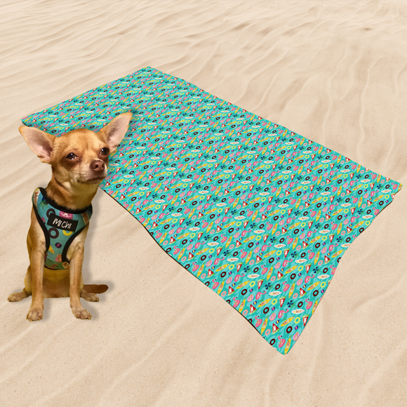 Microfibre Sand Free Towel - Pool Party